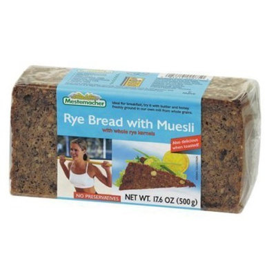 Mestemacher Bread Mestemacher Rye Bread with Muesli, 17.6-Ounce Units (Pack of 12)