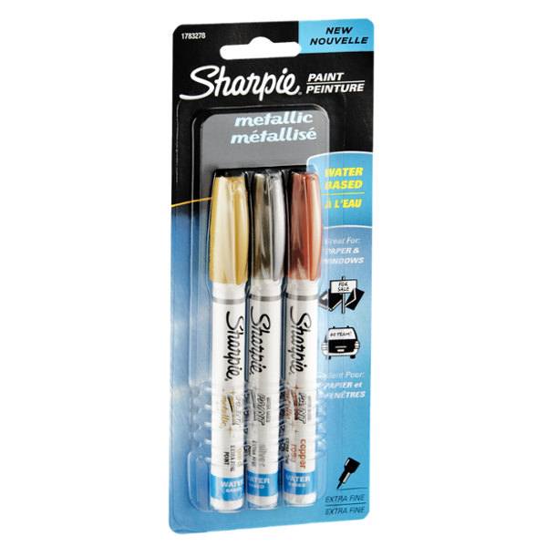 Sharpie Metallic Paint Markers - 3 CT