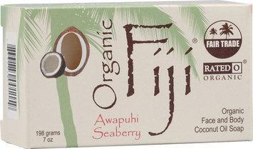 Organic Fiji Face and Body Coconut Oil Soap Awapuhi Seaberry 7 oz