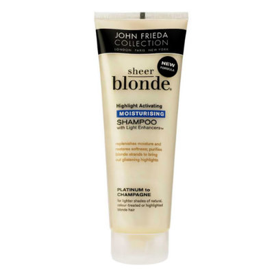 John Frieda® Sheer Blonde Highlight Activating Moisturizing Shampoo Platinum To Champagne