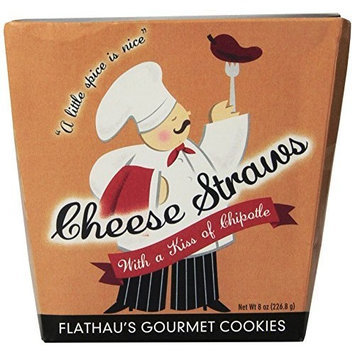 Flathau's Fine Foods Cheese Straws, 8 Ounce Boxes (Pack of 12)