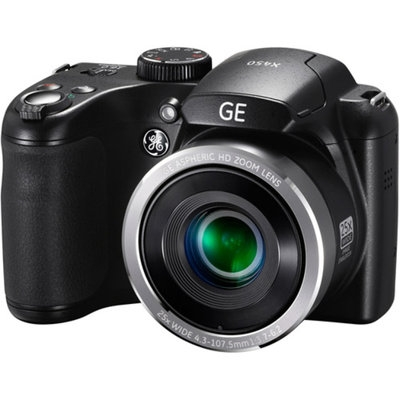 GE Black X450 Power PRO Digital Camera with 16 Megapixels, 25x Optical Zoom, 42mm Wide-Angle Lens