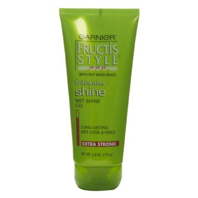 Garnier Fructis Style Brilliantine Shine Wet Shine Gel, Extra Strong, 6.8-Ounce Container, pack of 6