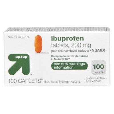 up & up Ibuprofen Pain Relief Caplets 100-pk.