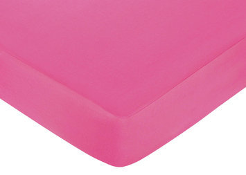 Jo Jo Designs Sweet Jojo Designs Circles Pink Collection Fitted Crib Sheet - Solid Pink