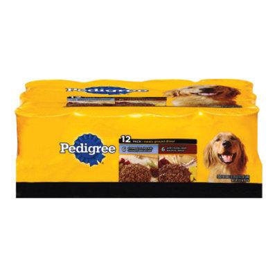 Pedigree PEDIGREEA Meaty Ground Dinner Variety Pack Dog Food
