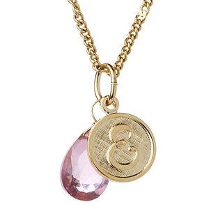 a.v. max E Monogram Charm Necklace