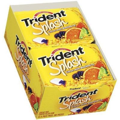Trident Splash Citrus Blackberry, 10-Count Package