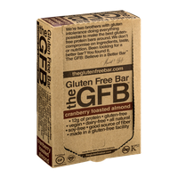 GFB The Gluten Free Bar Cranberry Toasted Almond - 12 CT