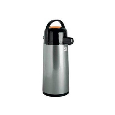 Peacock 2.2 Liter PRESSURE POWERED AUTOMATIC Hot/Cold BEVERAGE DISPENSER Tin Body, Black w/ Orange Push Button Top