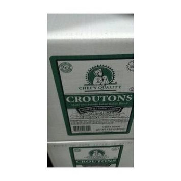 Chef's Quality Ultimate Italian Bread Croutons, Garlic, 8 Pound