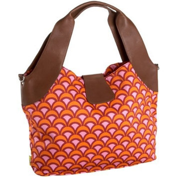 Amy Butler Wildflower Diaper Bag,Fountains Tangerine,one size