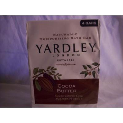 Yardley London Naturally Moisturizing Bath Bar, Coca Butter, 4 Count - 1 Pack