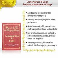 Amazing Ayurveda Premium Handmade Soap, Lemongrass and Sage, 4.4 Ounce