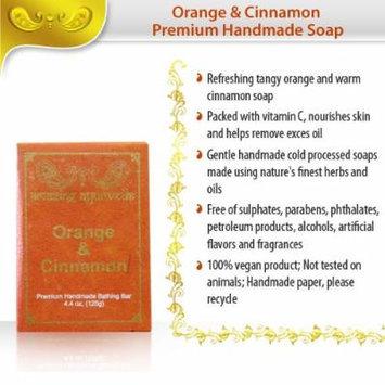 Amazing Ayurveda Premium Handmade Soap, Orange and Cinnamon, 4.4 Ounce