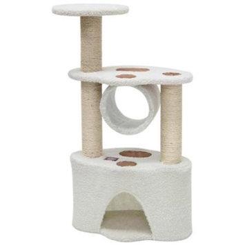 Majestic Pet Products, Inc. Majestic Pet Products 788995780472 37 in. Bungalow Cat Tree - Sherpa