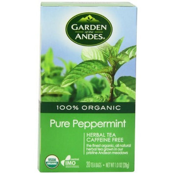 Garden of the Andes 100% Organic Herbal Tea, Pure Peppermint, 20-Count