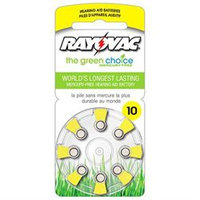 Rayovac L10ZA8ZM 8 Pack Battery for Hearing Aid