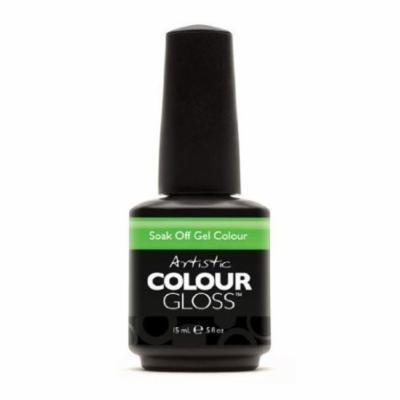 Artistic Nail Design Soak Off Colour Gloss Gel Polish Bright Green 03066 TOXIC