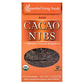 Essential Living Foods Cacao Nibs 8 oz - Vegan