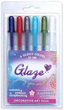 Sakura Glaze 38371 3D Glossy Pen 6-Pack