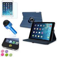 Insten INSTEN Navy Blue 360 Leather Case Cover+Matte Protector/Sticker For Apple iPad Air 5 5th Gen