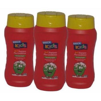 3-pack Breck Kids 2 in 1 Shampoo Plus Conditioner, 12 Oz Ea. (Amazing Apple)