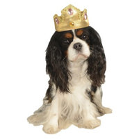 Rubie's Gold Tiara with Pink Stones Pet Costume - M/L