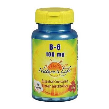Nature's Life, Vitamin B-6, 100 mg, 50 tabs