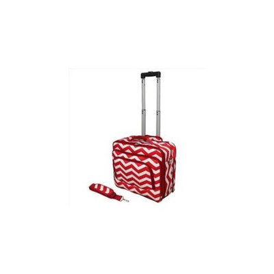 All-Seasons 813102-165R-W 17 inch ZigZag Print Womens Rolling Laptop Case, Red Cream