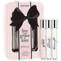 philosophy live with grace & love rollerball trio, 1 set