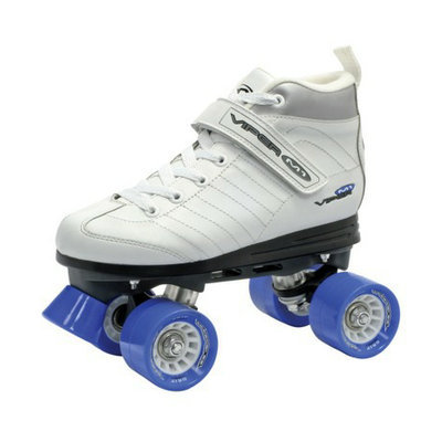 Roller Derby Women's  Viper Speed Quad Skate - White/ Black/ Blue (5)