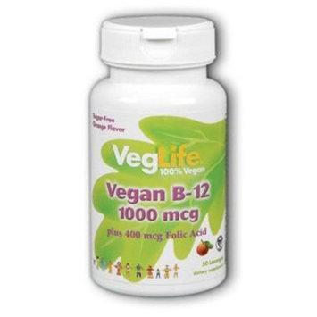Veggie B-12 1000mcg w/ Folic Acid 400 mcg VegLife 50 Sublingual Lozenge