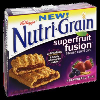 Kellogg's® Nutri-Grain® Superfruit Fusion Strawberry Acai Cereal Bars
