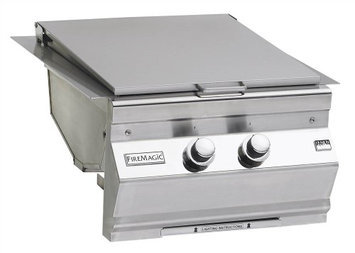 FireMagic 3287-1 Propane Gas Built In Searing Station and Side Burner