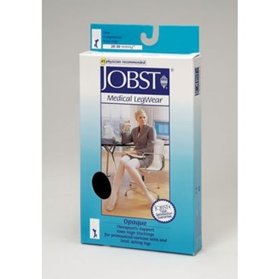 Jobst Women's Opaque 20-30 mmHg Closed Toe Knee High Support Sock Size: Large Petite, Color: Natural