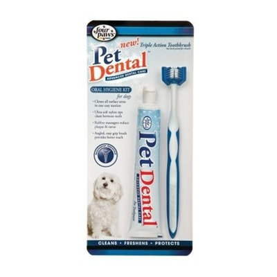 Four Paws Petdental Triple Action Oral Hygiene Kit Size: Large