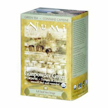 Numi Tea Numi Gunpowder Green Tea 18 Tea Bags Case of 6