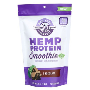 Manitoba Harvest Hemp Protein Smoothie Plus Greens Chocolate 11 oz - Vegan