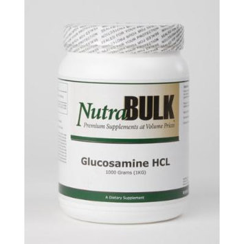 Glucosamine All Natural NutraBulk HCL Powder - Supports Healthy Mobility + Flexibility - 100% Pharmaceutical Grade - HCL 500g - 1.1 Pounds