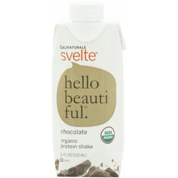 CalNaturale Svelte Organic Protein Shake, Chocolate, 11 Ounce Aseptic Boxes (Pack of 12)
