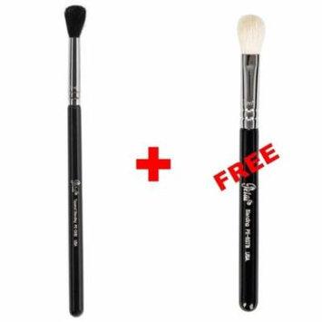 Bundle - Petal Beauty Round Tip Tapered Blending makeup Brush + FREE $9 Value Blending Brush (Black)