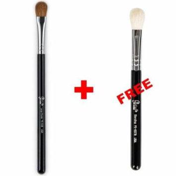 Bundle - Petal Beauty Large Shader makeup Brush + FREE $9 Value Eye Blending Brush (Black)