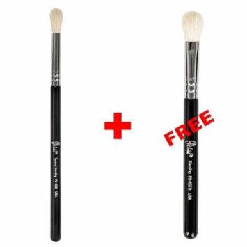 Bundle - Petal Beauty Tapered Blending makeup Brush + FREE $9 Value Eye Blending Brush (Black)