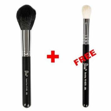 Bundle - Petal Beauty Tapered makeup Brush + FREE $9 Value Eye Blending Brush (Black)