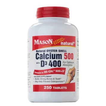 Mason Natural Oyster Shell Calcium 500 with D3 400