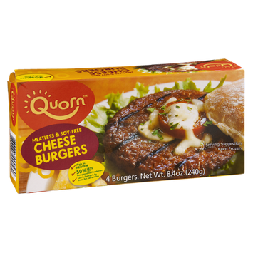 Quorn Meatless & Soy-Free Cheese Burgers - 4 CT