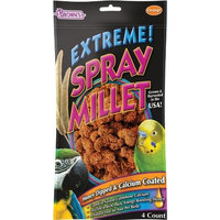 Fm Browns Sons Inc F.M. Brown's Extreme Honey Dipped and Calcium Coated Spray Millet, 4 Count, Orange