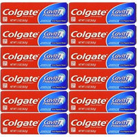 Colgate Cavity Protection Toothpaste, Fluoride, Great Regular Flavor, Travel Size, TSA Aproved, 1.3 Oz (Pack of 12)