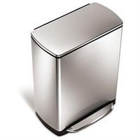 Simple Human Simplehuman 46L Wide-Step Rectangular Stainless Steel Recycler